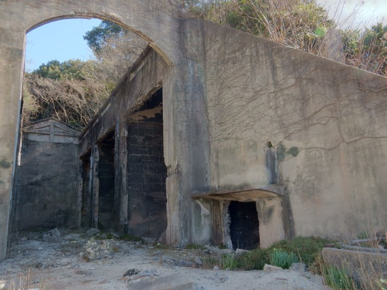 Ruins of Ookunoshima chemical weapons storage facility