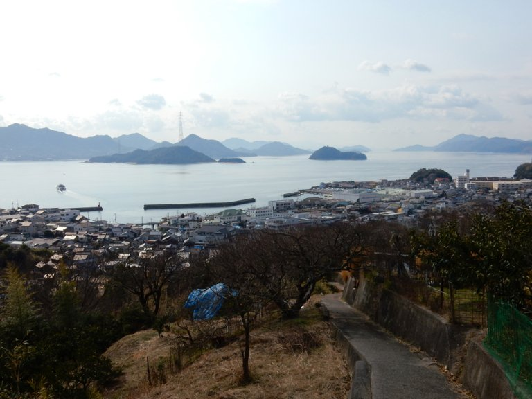 View of Seto Inland Sea from Tadanoumi